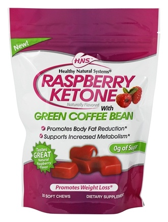 Healthy Natural Systems Raspberry Ketone With Green Coffee Bean 30 Soft Chews