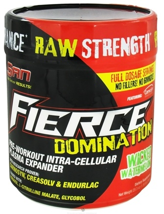 DROPPED: SAN Nutrition - Fierce Domination Pre-Workout Wicked Watermelon - 25.3 oz. CLEARANCE PRICED