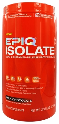 DROPPED: EPIQ - Isolate Rapid & Sustained-Released Protein Isolate Chocolate - 3 lbs.