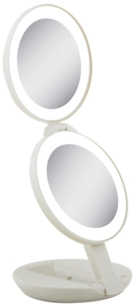 Zoom View - LED Lighted Travel Mirrors LEDT01