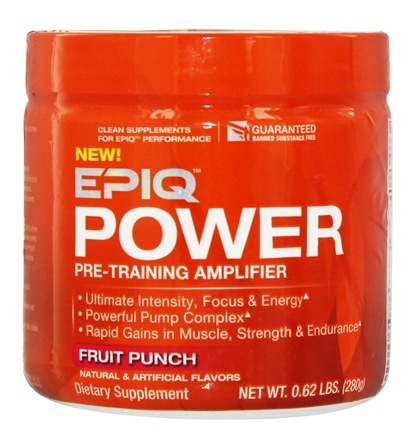 DROPPED: EPIQ - Power Pre-Training Amplifier Fruit Punch 40 Servings - 280 Grams