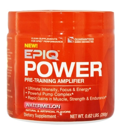 DROPPED: EPIQ - Power Pre-Training Amplifier Watermelon 40 Servings - 280 Grams