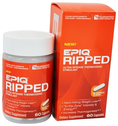 DROPPED: EPIQ - Ripped Ultra-Intense Thermogenic Stimulant - 60 Capsules