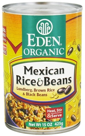 DROPPED: Eden Foods - Organic Mexican Rice and Beans - 15 oz. CLEARANCE PRICED