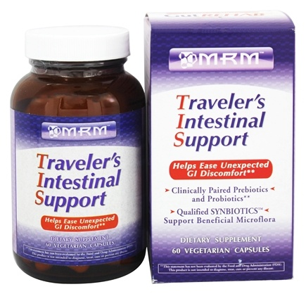 DROPPED: MRM - Traveler's Intestinal Support - 60 Vegetarian Capsules CLEARANCE PRICED