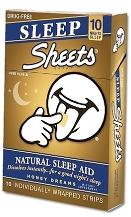 DROPPED: Sheets - Sleep Strips Natural Sleep Aid Honey Dreams - 10 Strip(s) CLEARANCE PRICED
