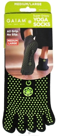 DROPPED: Gaiam - Yoga Socks Super Grippy Medium/Large - CLEARANCE PRICED