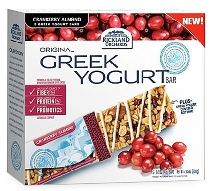 DROPPED: Rickland Orchards - All Natural Greek Yogurt Coated Bar Cranberry Almond - 5 Bars
