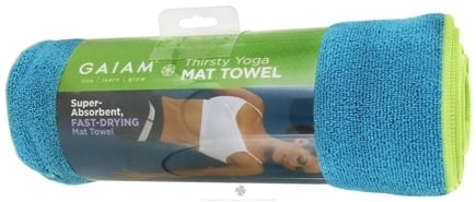 DROPPED: Gaiam - Thirsty Yoga Mat Towel Blue Teal