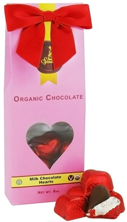 DROPPED: Sjaak's Organic Chocolate - Hearts Tote 12 Vegan Milk Chocolate Solid Hearts - 6 oz.