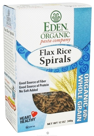DROPPED: Eden Foods - Organic Pasta Flax Rice Spirals - 8 oz.
