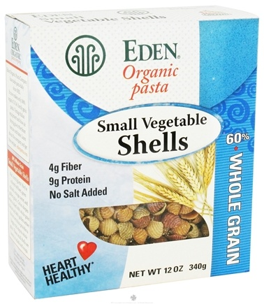 DROPPED: Eden Foods - Organic Pasta Small Vegetable Shells - 12 oz. CLEARANCE PRICED