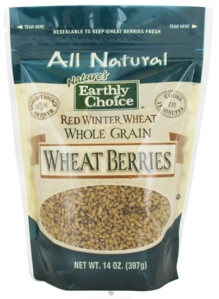DROPPED: Nature's Earthly Choice - Red Winter Wheat Whole Grain Wheat Berries - 14 oz.