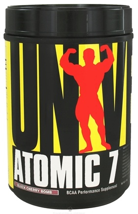 DROPPED: Universal Nutrition - Atomic 7 BCAA Powder Performance Black Cherry Bomb 78 Servings - 1.16 kg. CLEARANCE PRICED