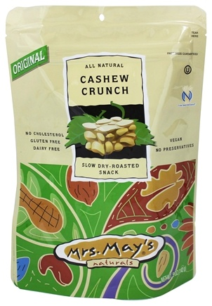 DROPPED: Mrs. May's Naturals - Slow Dry-Roasted Snack Cashew Crunch - 5 oz.