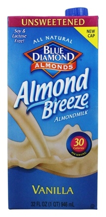Blue Diamond Growers - Almond Breeze Almond Milk Unsweetened Vanilla - 32 oz.