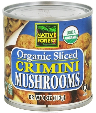 DROPPED: Native Forest - Crimini Mushrooms Sliced Organic - 4 oz. CLEARANCE PRICED