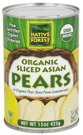 Zoom View - Asian Pears Sliced Organic