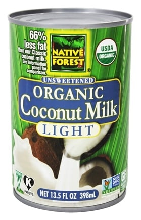 Native Forest - Coconut Milk Light Organic Unsweetened - 13.5 oz.
