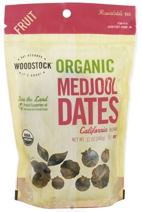 DROPPED: Woodstock Farms - Organic Medjool Dates - 12 oz. CLEARANCE PRICED