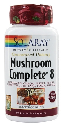 Solaray - Mushroom Complete 8 with Chaga - 90 Vegetarian Capsules