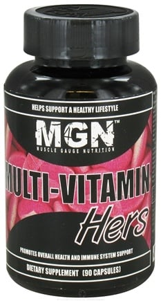 DROPPED: Muscle Gauge Nutrition - Multi-Vitamin Hers - 90 Capsules CLEARANCE PRICED