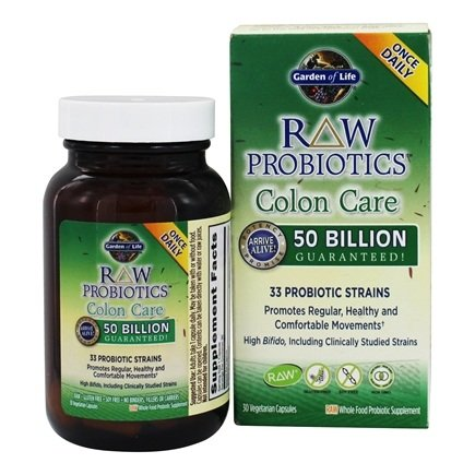 Buy Garden of Life Raw Probiotics Colon Care 33 Probiotic