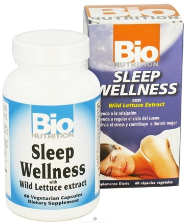 DROPPED: Bio Nutrition - Sleep Wellness with Wild Lettuce Extract - 60 Vegetarian Capsules CLEARANCE PRICED