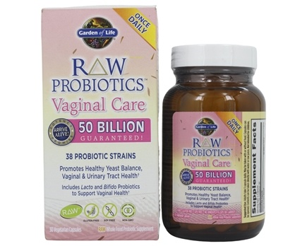 Garden of Life - Raw Probiotics Vaginal Care 38 Probiotics Strains - 30 Vegetarian Capsules