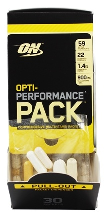 DROPPED: Optimum Nutrition - Opti-Performance Pack High-Potency MultiVitamins - 30 Packet(s)