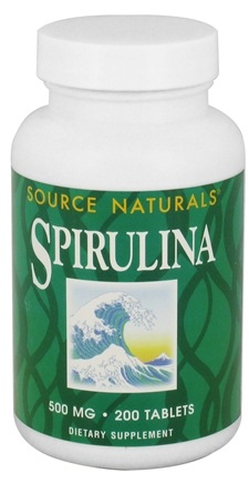 DROPPED: Source Naturals - Spirulina 500 mg. - 200 Tablets