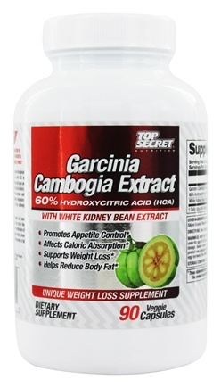 DROPPED: Top Secret Nutrition - Garcinia Cambogia Extract with White Kidney Bean Extract - 90 Vegetarian Capsules