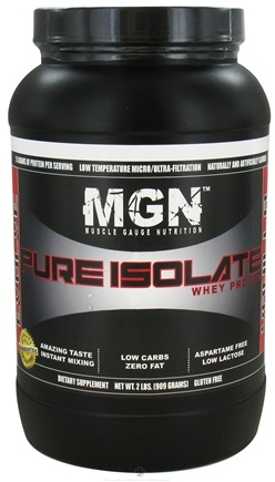 DROPPED: Muscle Gauge Nutrition - Pure Isolate Whey Protein Vanilla - 2 lbs. CLEARANCE PRICED