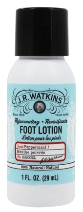 JR Watkins - Naturals Apothecary Rejuvenating Foot Cream Travel Size Peppermint - 1 oz.