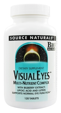 Source Naturals - Visiual Eyes Multi-Nutrient Complex with Bilberry Extract, Lipoic Acid & Lutein - 120 Tablets