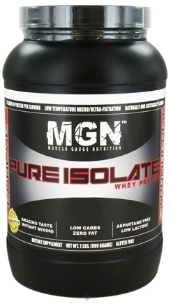 DROPPED: Muscle Gauge Nutrition - Pure Isolate Whey Protein Strawberry - 2 lbs.