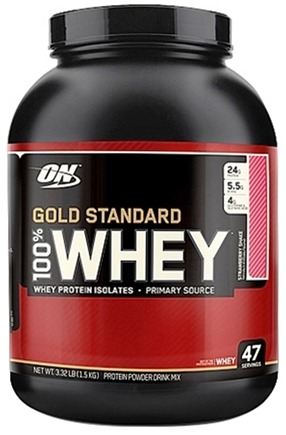 DROPPED: Optimum Nutrition - 100% Whey Gold Standard Protein Strawberry Milkshake - 3.32 lbs.