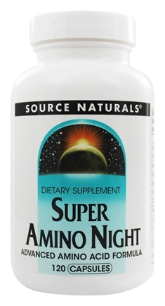 Source Naturals - Super Amino Night Advanced Amino Acid Formula - 120 Capsules