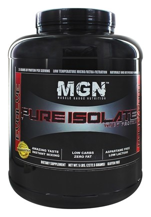 DROPPED: Muscle Gauge Nutrition - Pure Isolate Whey Protein Rocky Road - 5 lbs.