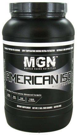 DROPPED: Muscle Gauge Nutrition - American Iso Whey Protein Vanilla - 2 lbs. CLEARANCE PRICED