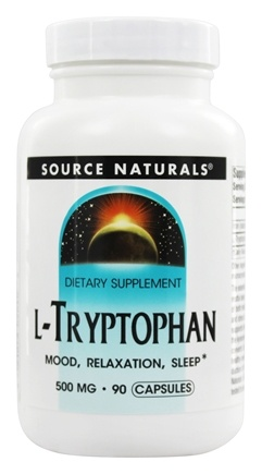 Source Naturals - L-Tryptophan 500 mg. - 90 Capsules