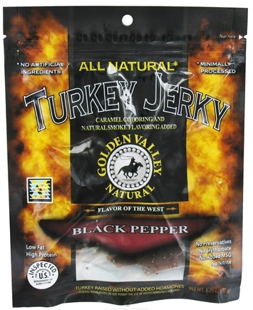 DROPPED: Golden Valley Natural - Natural Turkey Jerky with Naturally Smoked Flavoring Black Pepper - 3.25 oz. CLEARANCE PRICED