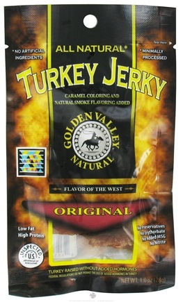 DROPPED: Golden Valley Natural - Natural Turkey Jerky with Naturally Smoked Flavoring Original - 1 oz. CLEARANCE PRICED