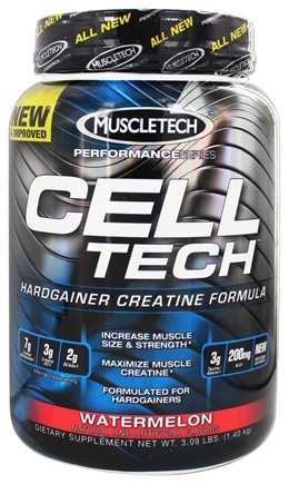 DROPPED: Muscletech Products - Cell Tech Performance Series Hardgainer Creatine Formula Watermelon - 3 lbs.