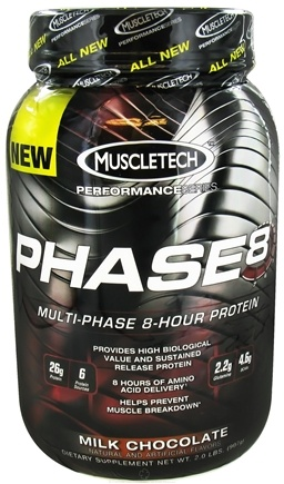 DROPPED: Muscletech Products - Phase8 Performance Series Multi-Phase 8-Hour Protein Milk Chocolate - 2 lbs. CLEARANCE PRICED