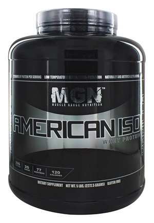 DROPPED: Muscle Gauge Nutrition - American Iso Whey Protein Vanilla - 5 lbs.