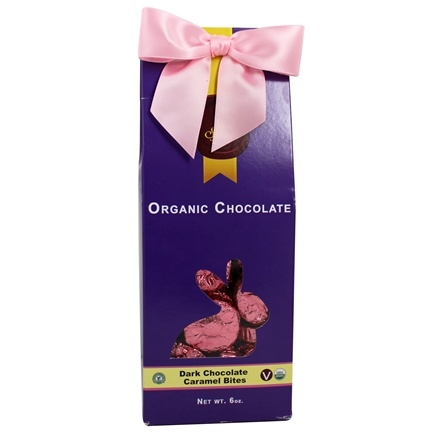 DROPPED: Sjaak's Organic Chocolate - Easter Caramel Bites Tote Dark Chocolate - 6 oz.