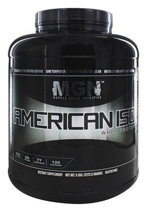 DROPPED: Muscle Gauge Nutrition - American Iso Whey Protein Vanilla Caramel - 5 lbs.