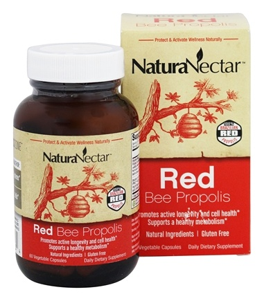 NaturaNectar - Red Bee Propolis - 60 Vegetable Capsule(s)