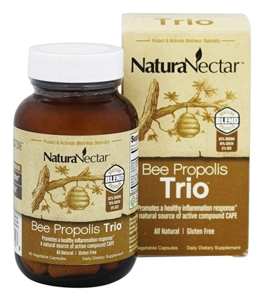 NaturaNectar - Bee Propolis Trio - 60 Vegetable Capsule(s)